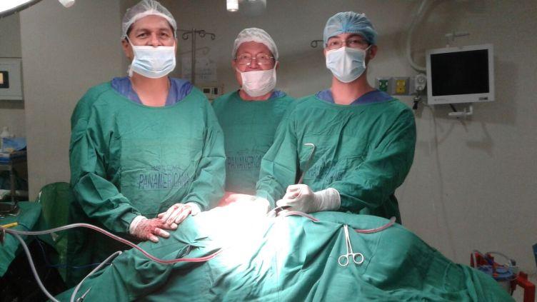 Dr. Frank Sanchez, BEAM surgeon, Dr. Jose Mackliff, neurologist