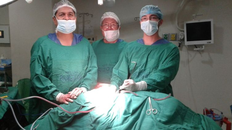 Dr. Frank Sanchez, BEAM surgeon, Dr. Jose Mackliff, neurologist